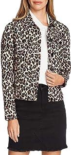 Sponsored Ad - Vince Camuto Women's Classic Elegant Leopard Denim Jacket