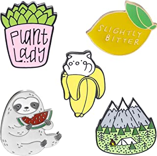 Cute Colorful Enamel Brooch Pin Set - 5 pcs Lovely Pins Badges for Girls Boys Women Clothes Backpacks Decor …