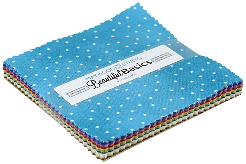 Beautiful Basics Scattered Dot Charm Pack 42 5-inch Squares Maywood Studio