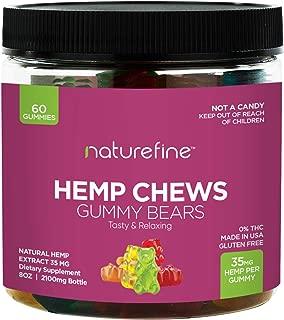 Hemp Gummies - Zero THC CBD Oil Cannabidiol - 2100 MG - 35 MG per Gummie - Hemp Oil for Pain Relief - Relieves Stress & Anxiety, Overall Health - Grown & Made in The USA