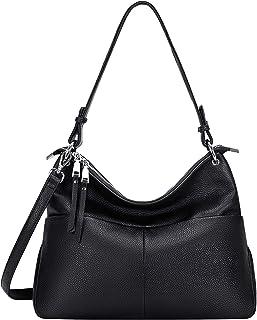 OVER EARTH حقائب كتف جلد طبيعي للنساء حقيبة هوبو السيدات محفظة كروسبودي