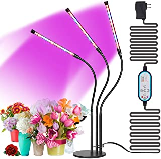 [ Cycle Timing ] High Brightness 36W Desk Grow Light, Cycle Timing Auto ON & Off Every Day, 4H/8H/12H Cycle Timer, 8 Levels Dimming, Indoor Plant Grow Lights,(No Daily Manual Operation)