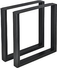 Stalen onderstel set van 2 U tafelpoot 70x72 cm zwart