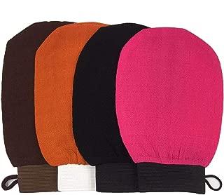 GOTONE 4 Pack Body Deep Exfoliating Hammam Gloves, Body Scrub Glove Dead Skin Remove Bath Body Mitt with Hanging Loop