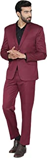 WINTAGE Men's Polyester Cotton Wedding and Evening 2 Pc Suit