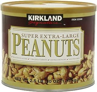 Kirkland Signature Super XL VA Peanuts, 40 Ounce - PACK OF 2