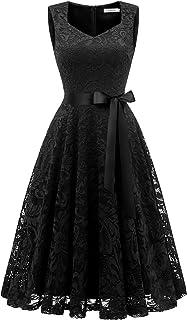 Gardenwed Damen Elegant Spitzenkleid Strech Herzform Abendkleid Cocktailkleider Partykleider