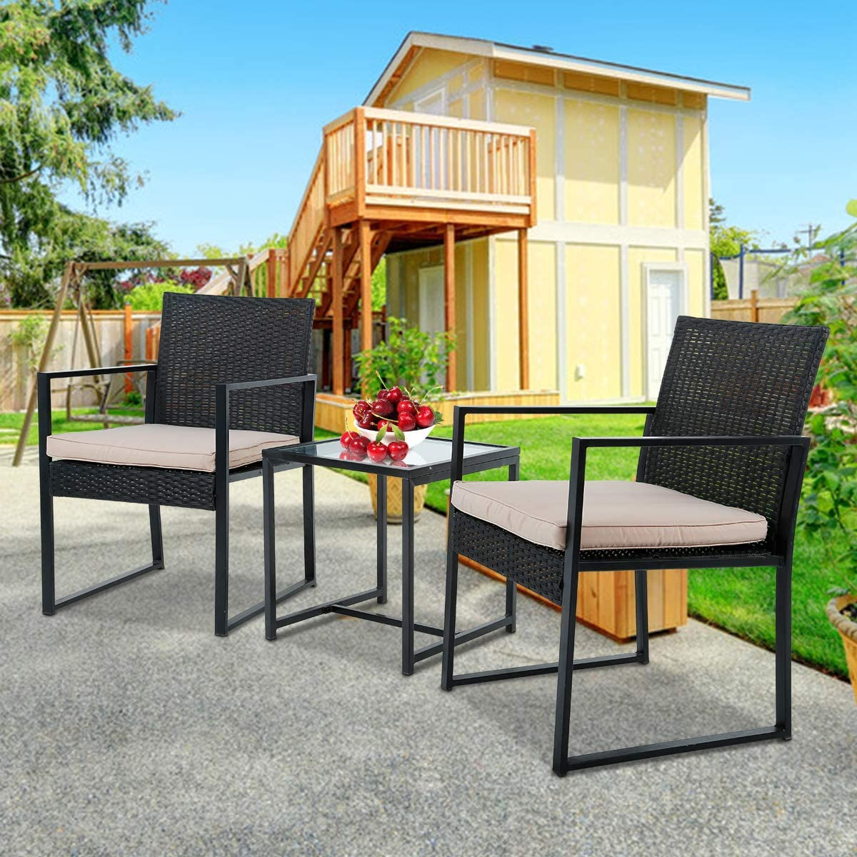 Outdoor Furniture 3 Pieces Sets Wicker Ranking latest TOP6 Set Patio