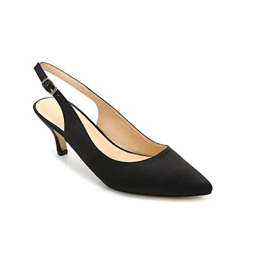 a8c6d18aecd ComeShun Womens Shoes Slingback Kitten Heels Dress Pointed Toe Pumps