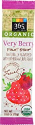 365 Everyday Value, Organic Fruit Strip, Very Berry, 0.65 oz