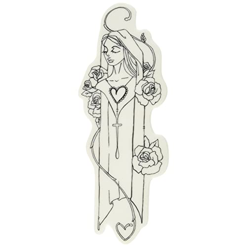 Prima Marketing 980696 Ruth Jamie Dougherty Creating in Faith Cling Stamps 2.25 by 6 White