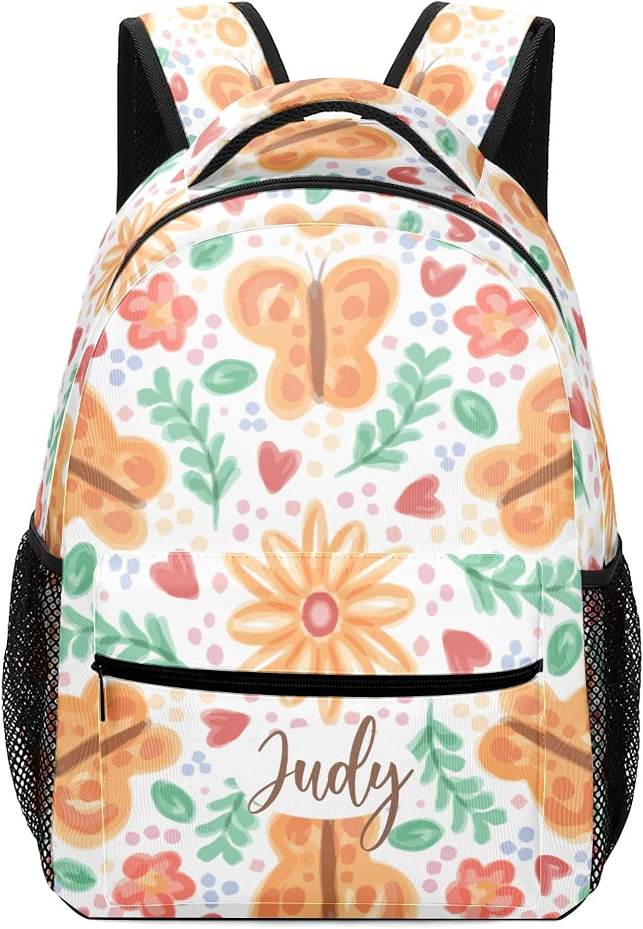 Limited Special Price Personalized Cash special price Great Flora With Backpacks ButterfliesSchool Orange