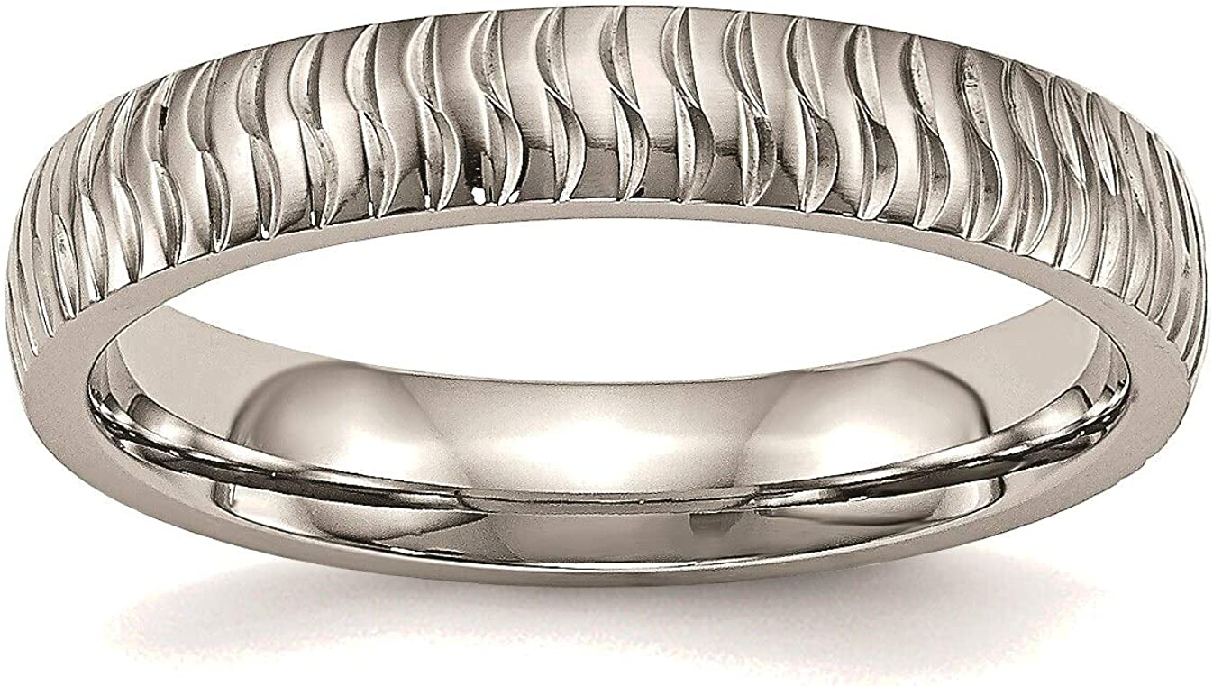 Free shipping New Bonyak Jewelry Direct sale of manufacturer Stainless Steel Polished in Ring Stainle Textured