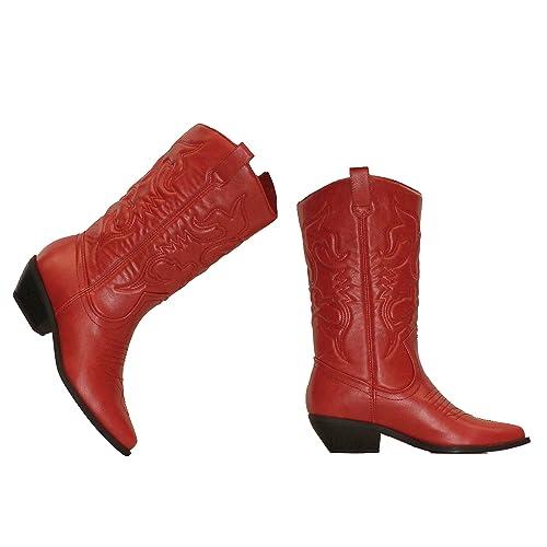 f0ff8660649de Red Women's Cowboy Boots: Amazon.com