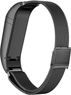 ANCOOL Compatible with Fibit Flex Bands Stainless Steel Smartwatch Bands Replacement for Fitbit Flex Tracker, Large Black