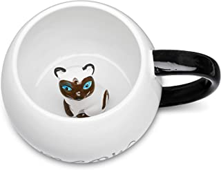Ceramic Coffee Mug With 3D Animal Surprise – Cat & Dog Tea Mug For Hot Drinks & Cold Beverages – Dishwasher Safe Novelty Cup With Comfortable Handle – Great Gift Idea For Pet Owners Large 17OZ (Cat)