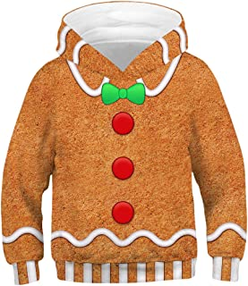Kids Novelty Christmas Sweater Hoodie,Boys/Girls Ugly Christmas Sweatshirt, Chrismas Costume Pajamas