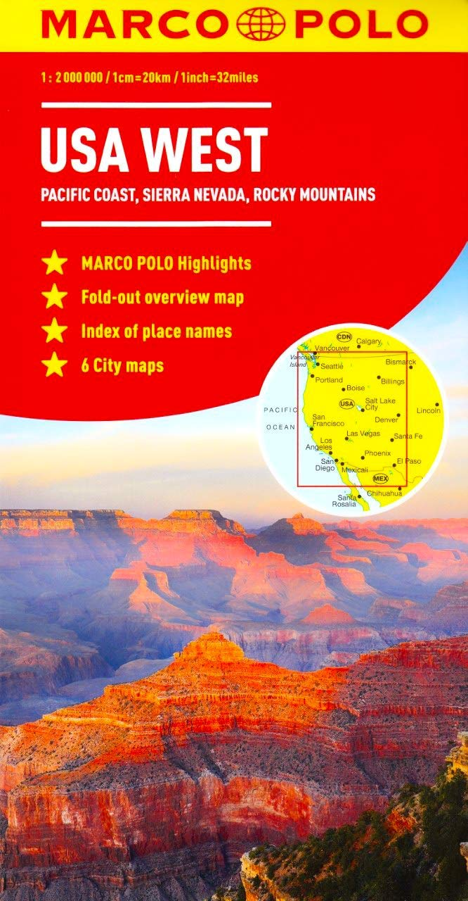 Download USA West Marco Polo Map Idioma Inglés 