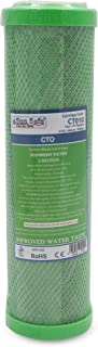 """SunSafe CTO Carbon Block Cartridge Carbon Water Filter Cartridge 5 Micron 10"""" for any Standard 10 Inches Reverse Osmosis S..."""