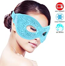 Ice Eye Mask for Woman Man Sleeping, Reusable Ice Mask Hot/Cold Pack Therapy for Puffy Eyes,Dark Circles,Dry Eyes,Relaxing Sleep,Migraines, Headaches,Stress Relief [Blue]