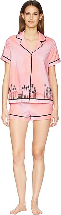 Hey Sunshine Graphic Short Pajama Set
