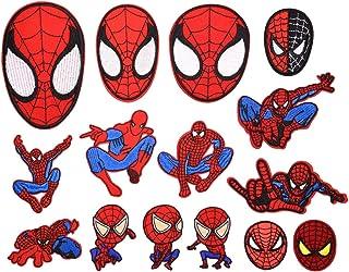 CYWQ - 15parches de Spiderman, aplicación con plancha, ideales para cazadoras vaqueras, bolsos, zapatos, gorras, etc., pa...