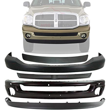 MDR OE Replacement Dodge PICKUP/_DODGE/_RAM1500 2008-2008 Bumper Front Upper Textured Partslink # CH1000880