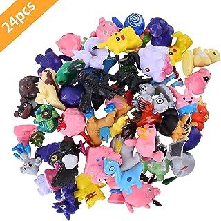 Pokemon Monster, 24 piezas Pokemon Monster Mini Figure Pokemon Pikachu para Regalos y Fiestas para Niños
