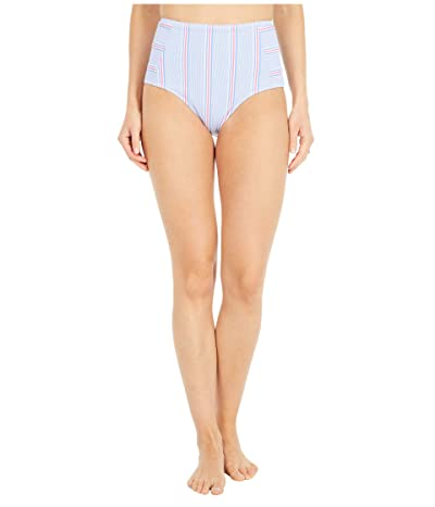 Vineyard Vines Nicholls Stripe Bikini Bottoms (Bimini Blue) Women