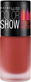 Maybelline New York Colour Show Bright Matte Nail Paint, Blazing Orange, 6ml