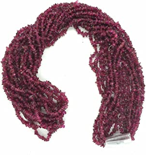 Ratnagarbha Corundum Ruby Gemstone Nuggets Uncut Chips Loose Beads, 14