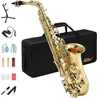 Eastar AS-Ⅱ アルトサックス E? Saxophone ゴールドラッカー サクソフォン ケース付き お手入れセット (初心者向け)