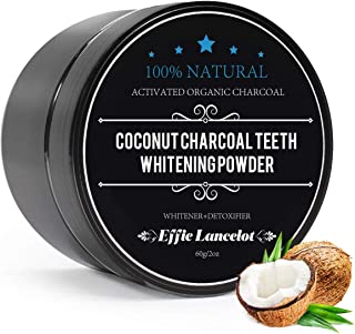 Activated Charcoal Teeth Whitening Powder- 100% Natural Organic Tooth Whitener Powder for Stains, Tartar, Yellow Teeth and Bad Breath- Safe for Enamel, Sensitive Teeth-(60g, 0.2OZ)