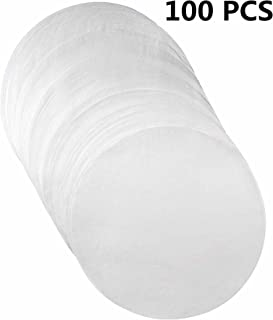 (Set of 100) Non-Stick Round Parchment Paper- 7 inch - 100 Eco-Friendly Pack - Baking Paper Liners for Round Cake Pans Circle Cheesecake, Cooking, Air Fryer
