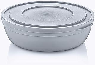Hobby Life Sandy Flat Bowl W/H Lid 4 Litres (Cool Grey)