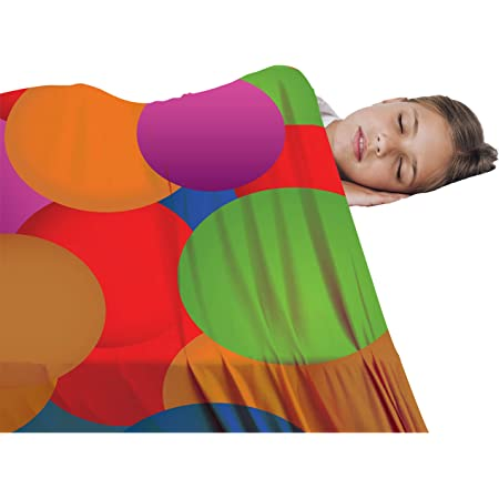 Sensory Blanket for Kids - Comfortable Compression Bedding - Cuddle Light Soft Sheets - Stretchy Lycra Quality Blankets for Boys, Girls & Toddler (Twin)