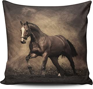 SALLEING Custom Fashion Home Decor Pillowcase Bill Murray Horse Euro Square Throw Pillow Cover Cushion Case 26x26 Inches One Sided Print