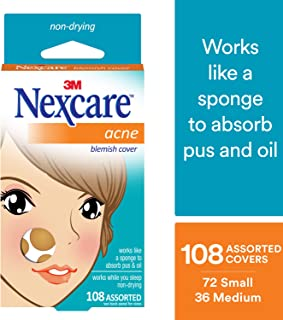 Nexcare Acne Cover, Gentle, Invisible, 108 count