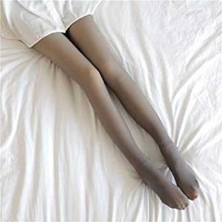 Leggings Kvinnor vinter, Fake through kött dubbla lager Dam Hög midja mage kontroll rumpa lyft Bomull Leggings, Tjock Frit...