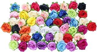 Merssavo 50 Rosas Multicolor Floral Pequeño Para Flor de