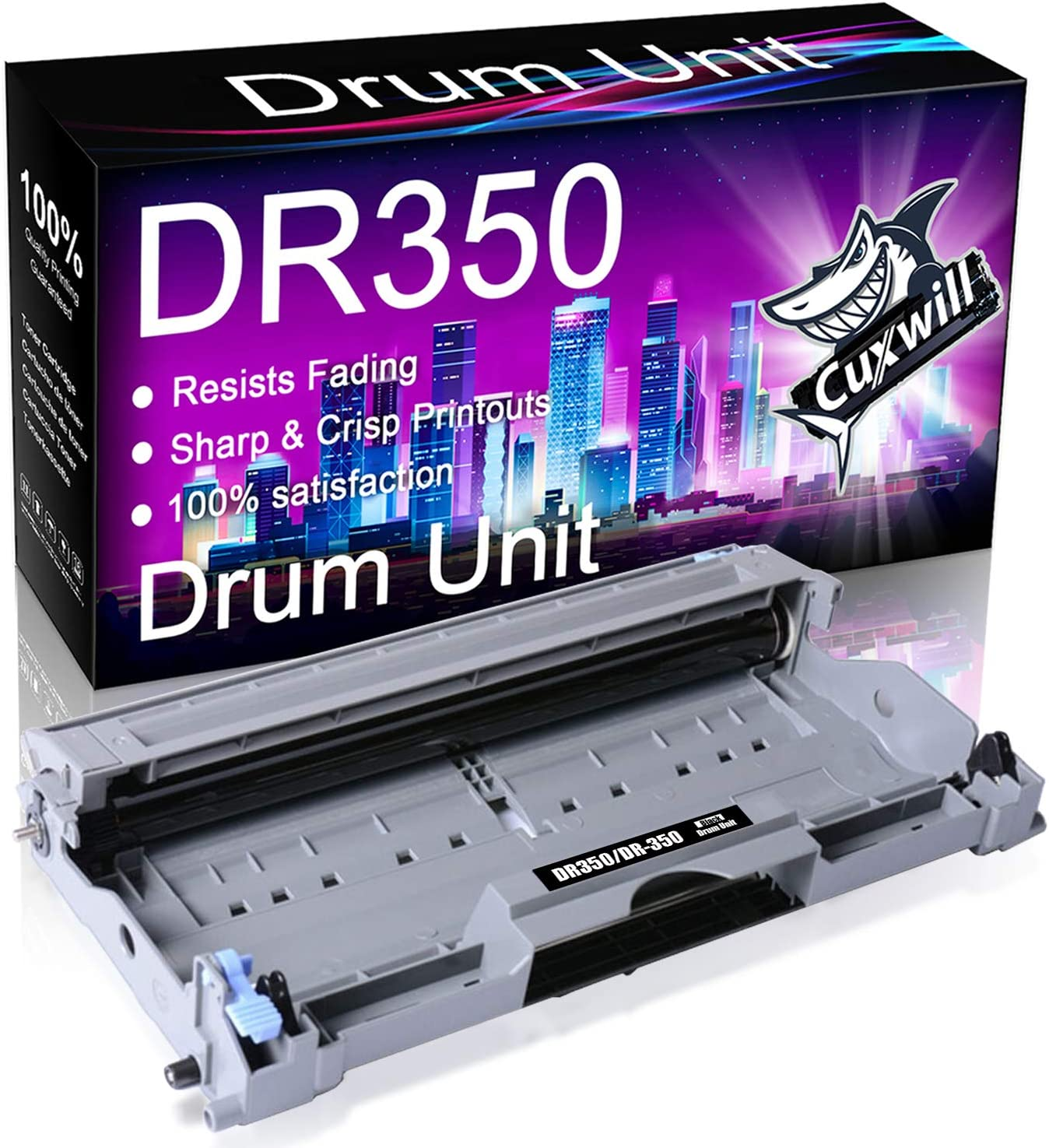 Cuxwill Compatible Drum Unit Replacement for Brother DR350 DR-350 to use with HL-2040 HL-2070N MFC-7820N MFC-7420 MFC-7220 DCP-7020 MFC-7225N HL-2030 Intellifax 2820 Intellifax 2920 Printer (Black)