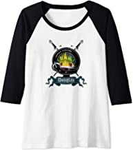 Womens Douglas Clan Badge & Swords Raglan Baseball Tee