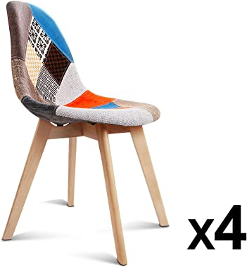 Artiss Fabric Eames Dining Chairs Set of 4