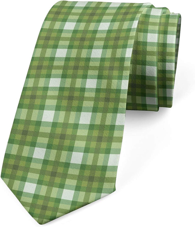 Lunarable Men's Tie, Traditional Vertical Lines, Necktie, 3.7