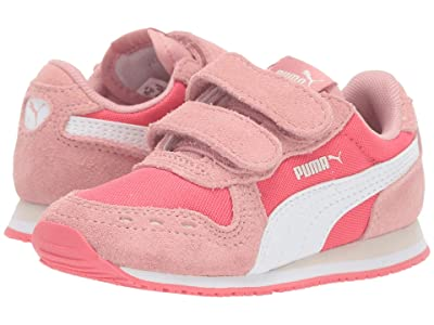 Puma Kids Cabana Racer NL V (Toddler) (Calypso Coral/Bridal Rose/PUMA White) Girls Shoes
