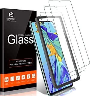 3 PACK MP-MALL Screen Protector for huawei p30, Case Friendly, 3D Curved, Full Coverage, Tempered Glass, Not Fit for huawe...