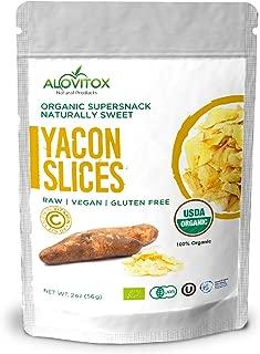 Alovitox Yacon Slices - Highest Quality Wellness and Weight Loss Prebiotic Raw Keto Paleo Vegan and Gluten Free - FOS Root Diet Friendly Pure - USDA Organic 2oz