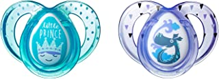 Tommee Tippee Closer to Nature Everyday Baby Pacifier, Boy, Blue, 6-18 Months, 2 Count, BPA-Free (Designs May Vary)