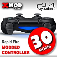 PS4 MODDED Controller, Jet Black, PRO MOD Rapid FIRE CHIP, Playstation, Fornite, Call of Duty - XMOD 30 Modes