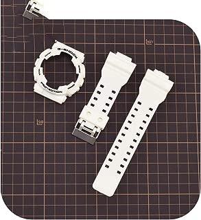 double-june Rubber Watchband for Casio G Shock Ga 110/100 Ga 120 Gd 110 Sport Waterproof Strap Bracelet Accessories-White S-Watchbandxcase